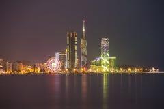 Night shot of Batumi, Georgia Royalty Free Stock Photography