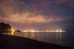 Night shot of Batumi, Georgia Royalty Free Stock Photos
