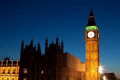 Night shot of the Big Ben in London Stock Photography