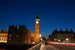 Night shot of the Big Ben in London Royalty Free Stock Photography