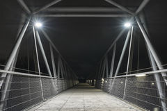 Night shot of a bridge in Regensburg, Bavaria, Germany Royalty Free Stock Images