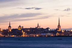 Night shot of the Capital Tallinn, Estonia Royalty Free Stock Photos