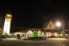 Night shot of Chiangmai Train Station Royalty Free Stock Photo