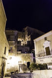 Night shot of the city of Amantea, Calabria Italy. Royalty Free Stock Photos