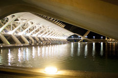 Night shot in the  City of Arts and Sciences, Valencia Royalty Free Stock Photos