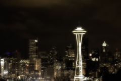 A night shot of downtown Seattle from Kerry Park Stock Image