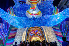 Night shot of Durga Puja Pandal, Kolkata, West Bengal, India Stock Photos