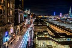 Edinburgh by night royalty free stock photos