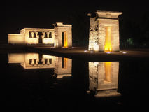 Night shot egyptian temple Royalty Free Stock Image
