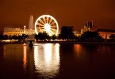 Night shot of Ferris wheel in Tuileries Stock Photos