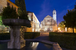 Night shot of the Holy Chapel of the Saviour in Ubeda Royalty Free Stock Photos
