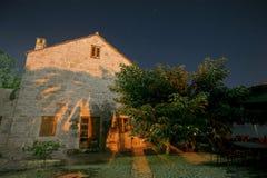Night shot of house Stock Image