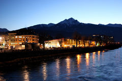 Night shot of Innsbruck Stock Image