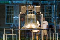 Night shot of Liberty Bell Royalty Free Stock Photo
