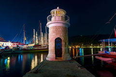 Night shot of the lighthouse Royalty Free Stock Photo