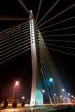 Night shot of modern bridge Stock Photography