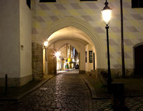 Night shot of Munich street Royalty Free Stock Photos