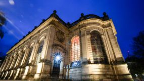 Free Night Shot Of Back Of A Church Royalty Free Stock Photo - 105992915