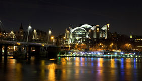 Night shot over the Thames Stock Photos