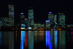 Night shot of Perth city Royalty Free Stock Photos