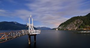 Night shot of Porteau Cove Provincial Park Royalty Free Stock Photography