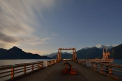 Night shot of Porteau Cove Provincial Park Royalty Free Stock Photo