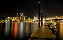 Night Shot Portland Oregon Royalty Free Stock Image