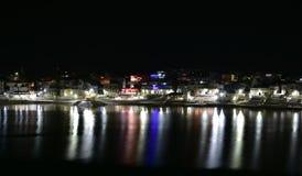 Night shot of Pushkar lake or Pushkar Sarovar at Pushkar - Rajasthan - India Stock Photography