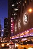 Night shot of Radio City Music Hall Stock Images