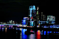 Night shot of river thames royalty free stock photography