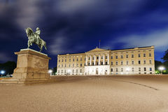 Night shot of The Royal Palace. In Oslo, Norway Royalty Free Stock Photos