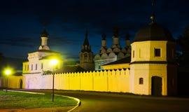 Night shot of russian monastery Stock Photos