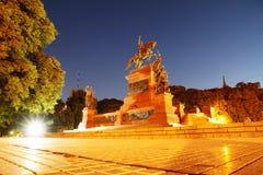 Night shot of San Martin, Buenos Aires Stock Photos