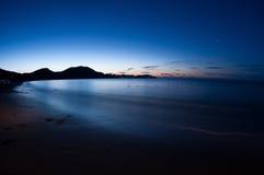 Night shot of sea. Crimea. Stock Images