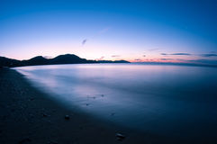 Night shot sea. Stock Photography