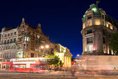 Night shot of the street in London Royalty Free Stock Photo