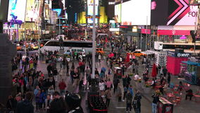 Night Shot Of Times Square stock footage
