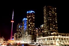 Night Shot Toronto Royalty Free Stock Images