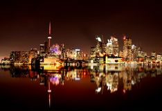Night Shot Toronto Stock Images