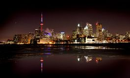 Night Shot Toronto Stock Image