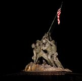 A night shot of the USMC Memorial Royalty Free Stock Photos