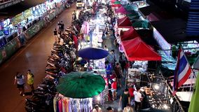 Night shot of Warorot Market stock video footage