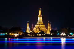 Night shot of Wat Arun Royalty Free Stock Image