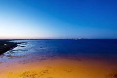 Night shot of the West Aussengroden in Wangerooge Royalty Free Stock Images