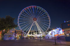 Night shot from The Wurstelprater, Vienna, Austria Royalty Free Stock Images