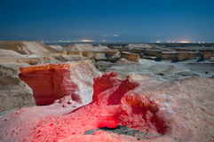 Dead Sea at night. Night shots with a tripod in a full moon. Use additional lighting Royalty Free Stock Image