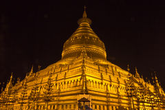 Night Shwezigon Pagoda ,  Bagan in Myanmar (Burmar) Royalty Free Stock Photography