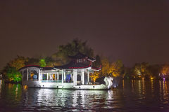 Night sight scenery of Two River and Four Lakes. It is a popular tour spot of Guilin City Royalty Free Stock Image