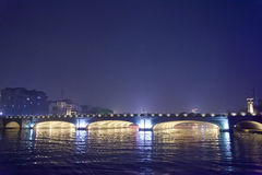 Night sight scenery of Two River and Four Lakes. It is a popular tour spot of Guilin City Royalty Free Stock Photo