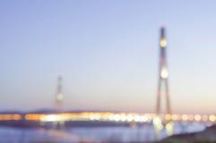 Free Night Sight With Bay Bridge In Vladivostok Russian Island Royalty Free Stock Photos - 71845668